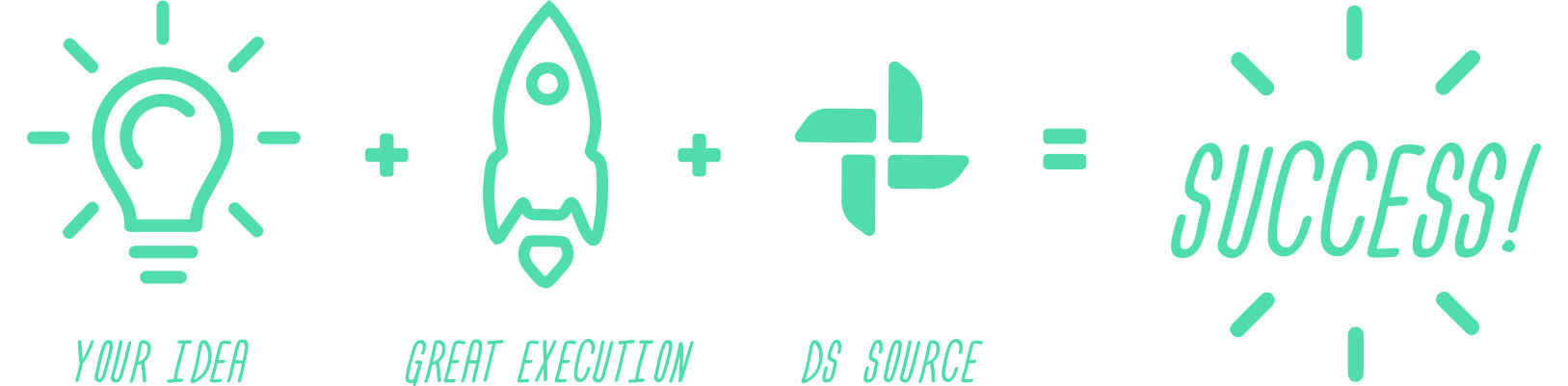 Your + Great + Execution + DS Source = Success